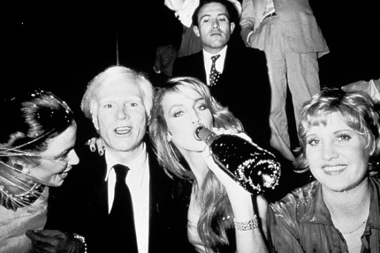 Andy Warhol, Jerry Hall and crew