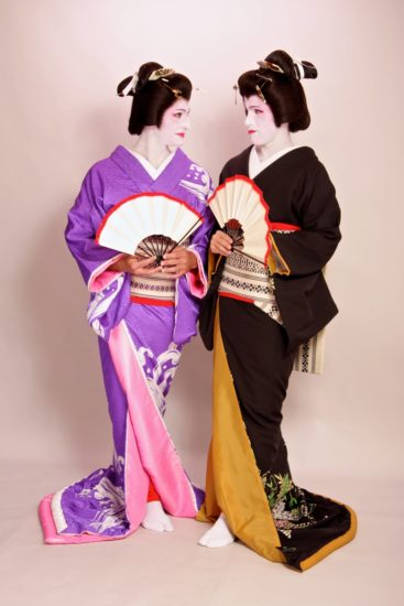 Dressing up as geisha in Tokyo