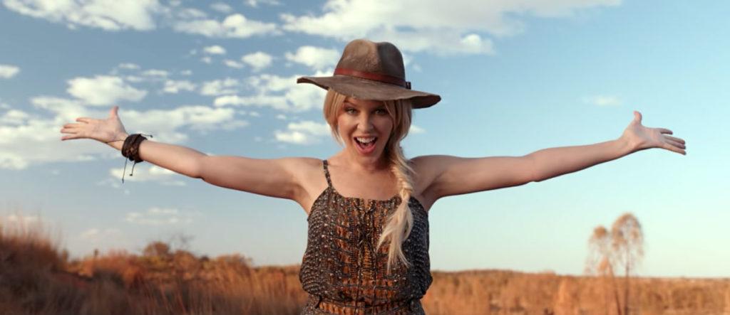 Kylie Minogue wants you to visit Australia (Image: Tourism Australia)