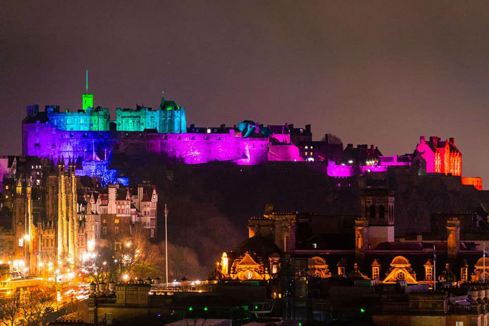 Edinburgh Castle overlooks the city