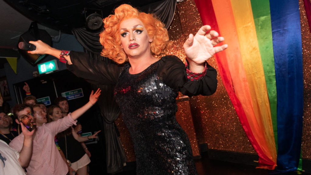 Drag queen Mary Mac entertains at the Two Brewers in London - a sister venue is coming to Manchester