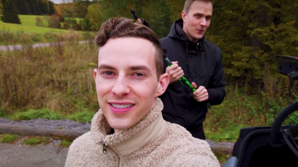 Adam Rippon and boyfriend JP Kajaala hike in Finland