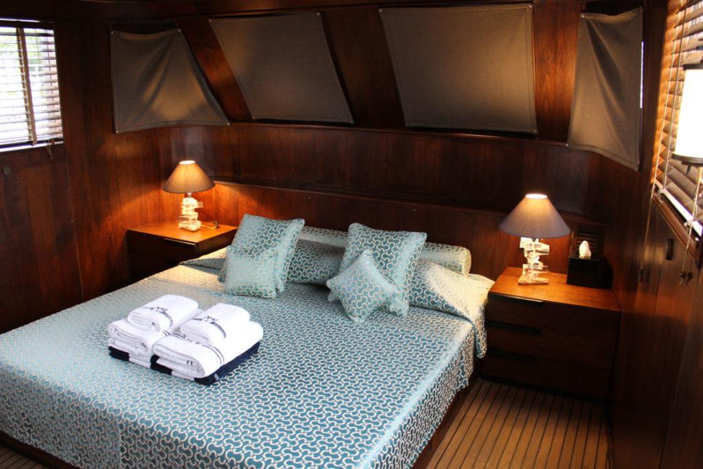 A cabin aboard the Maid Marian II
