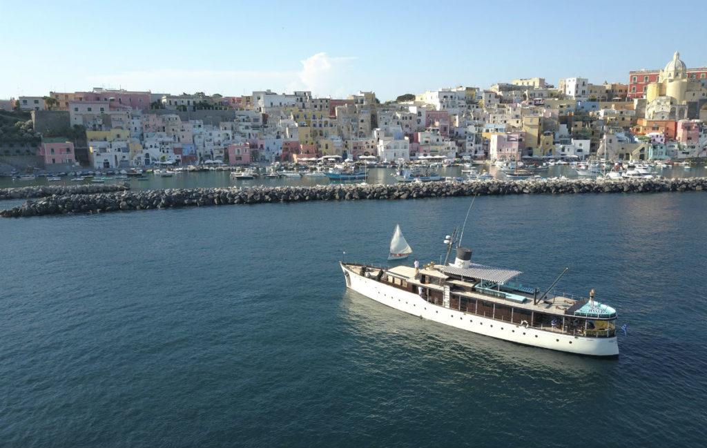 The Maid Marian II cruises the Greek islands