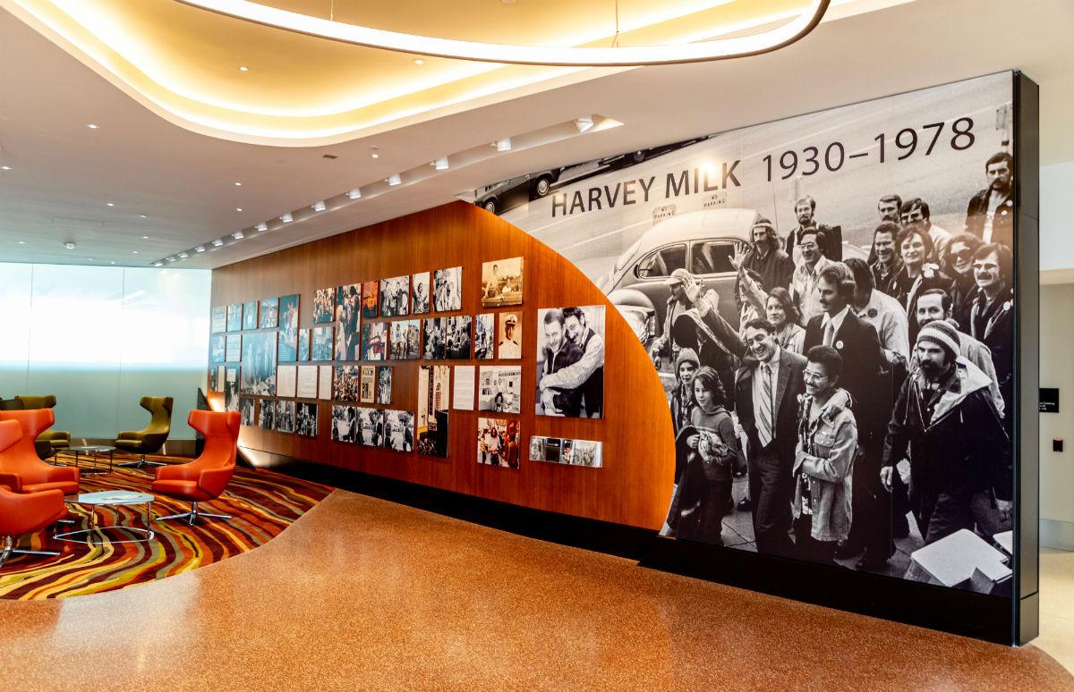 The Harvey Milk display at San Francisco Airport