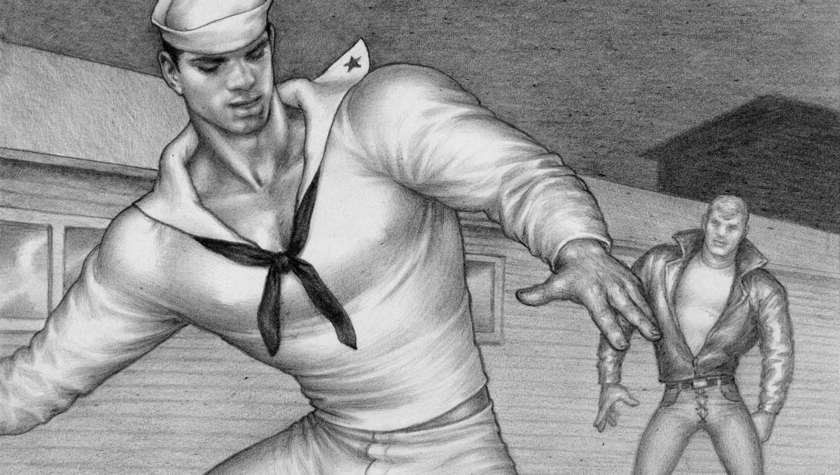 A detail from an image from 'The Sailor and the Cyclist', courtesy Tom of Finland Foundation