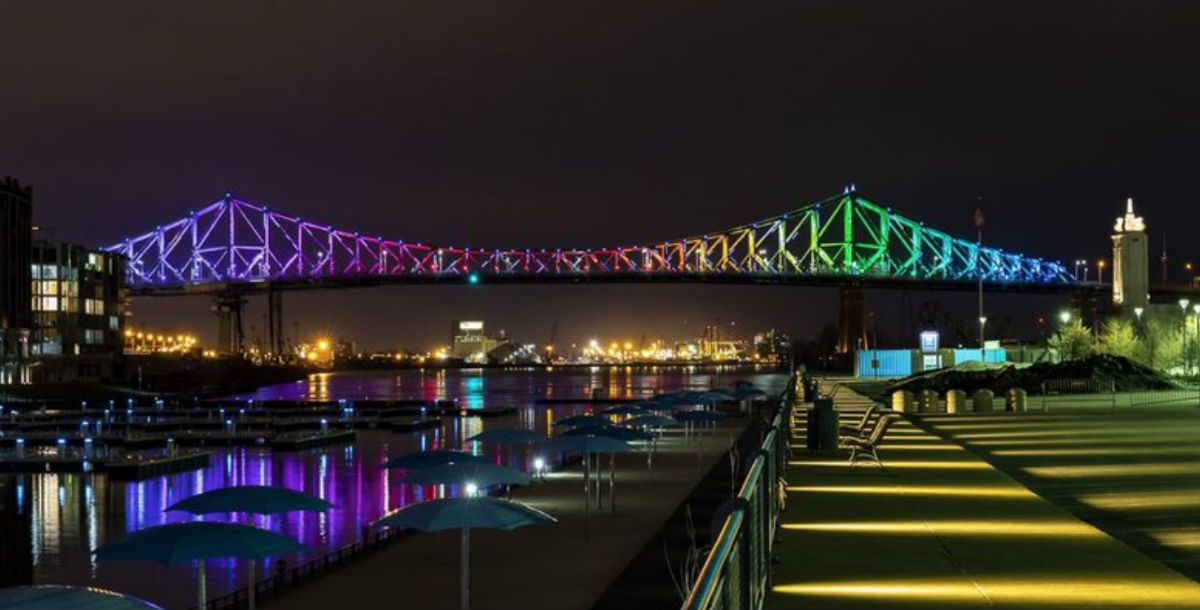The Jacques Cartier Bridge, Montreal