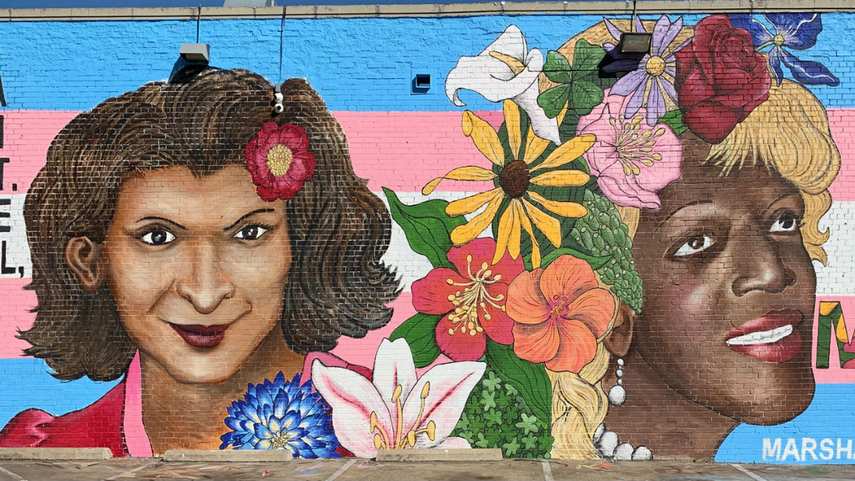 The mural of Sylvia Rivera and Marsha P. Johnson in Dallas, Texas