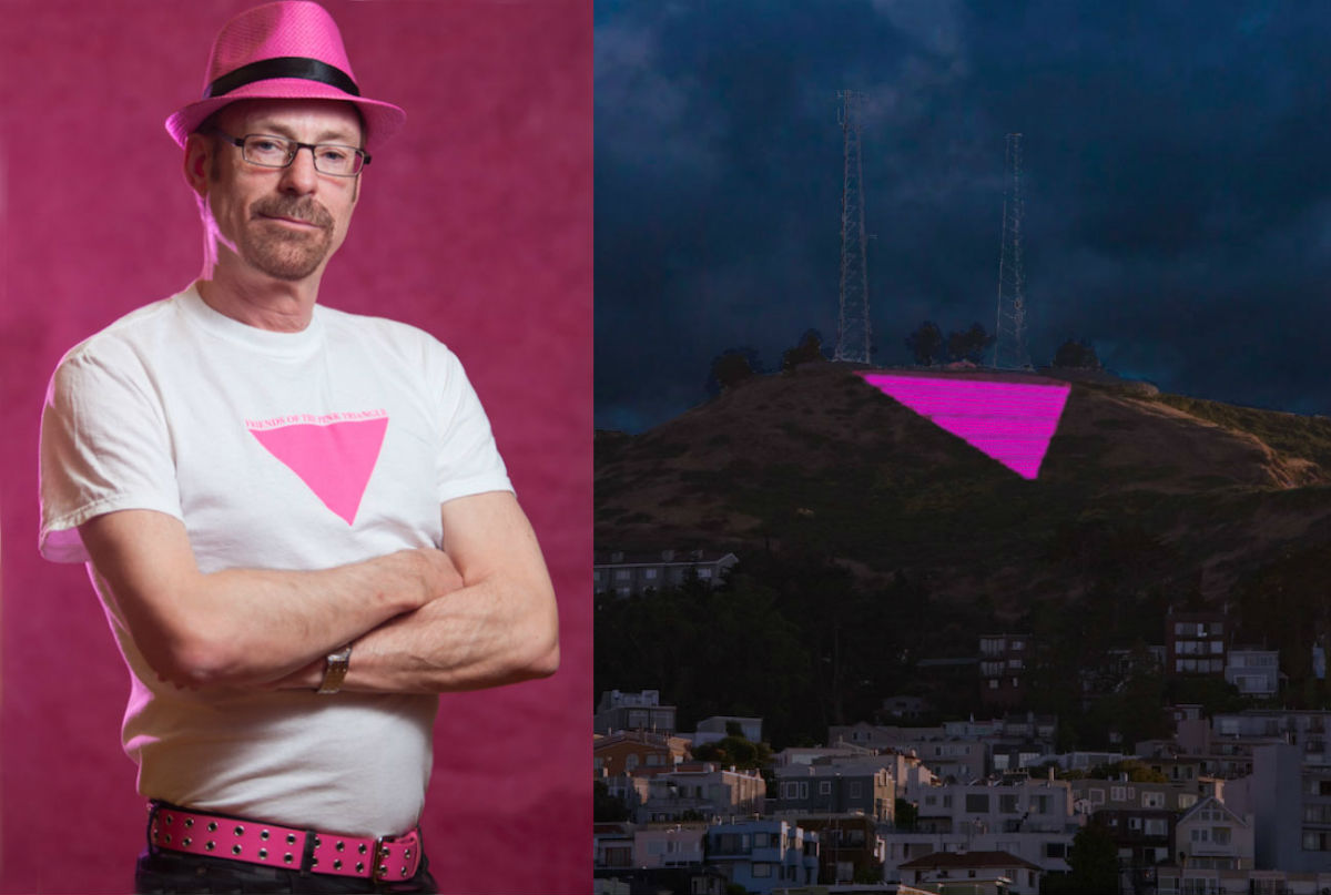 Artist Patrick Carney will see his 'Pink Triangle' installation illuminated this year in San Francisco