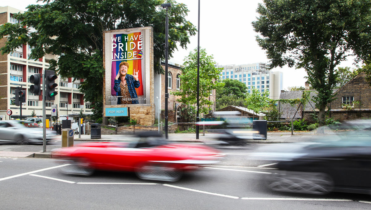 A Pride Inside digital billboard