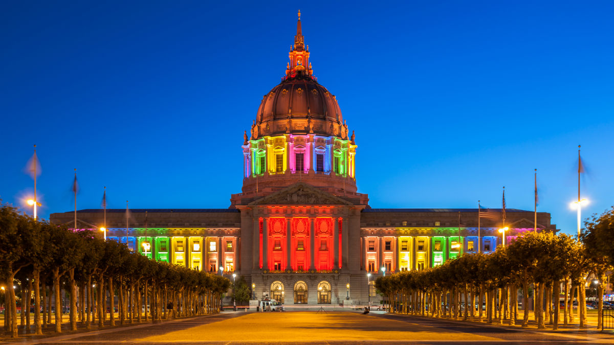 San Francisco City Hall will be lit in rainbow lights