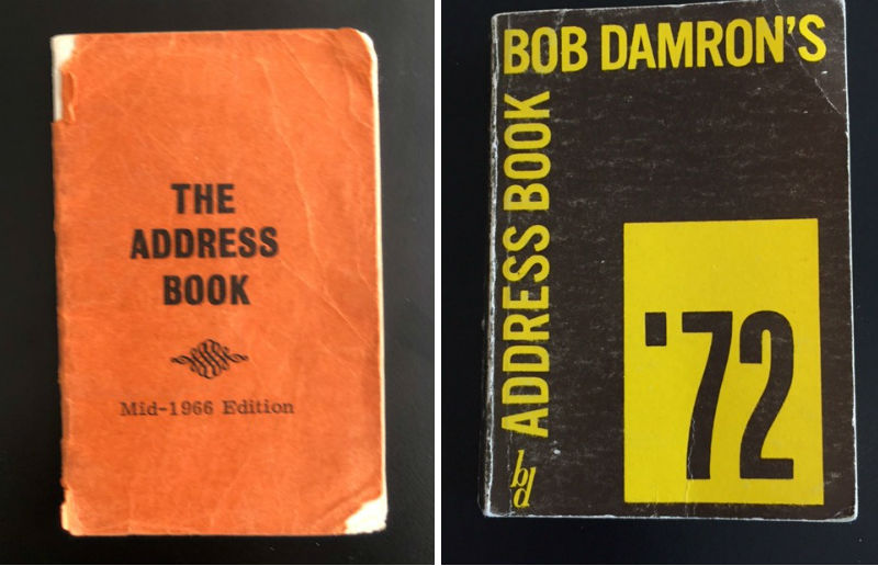 Early additions of Bob Damron's Address Book, detailing gay bars and clubs in the US