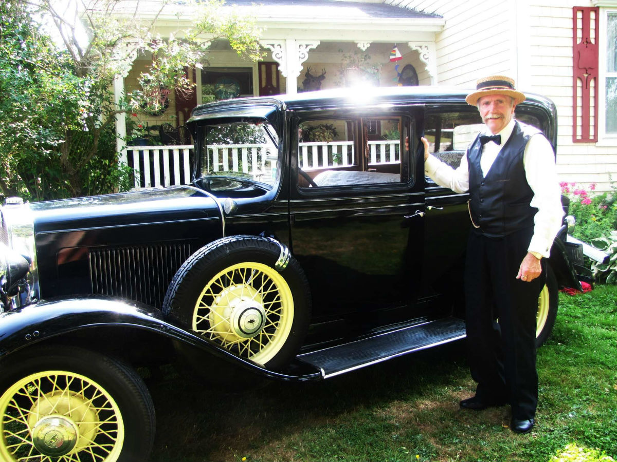 Jim Culbert and his vintage car
