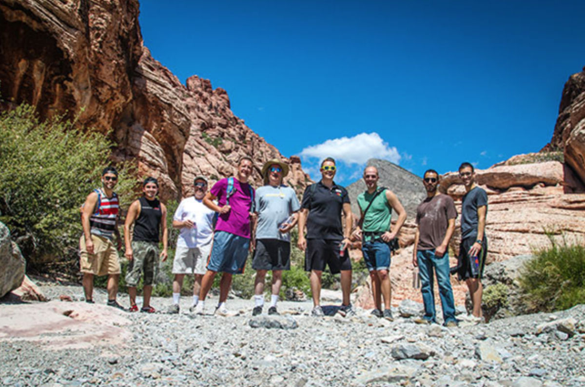 A past hiking trip organized by Las Vegas Pride
