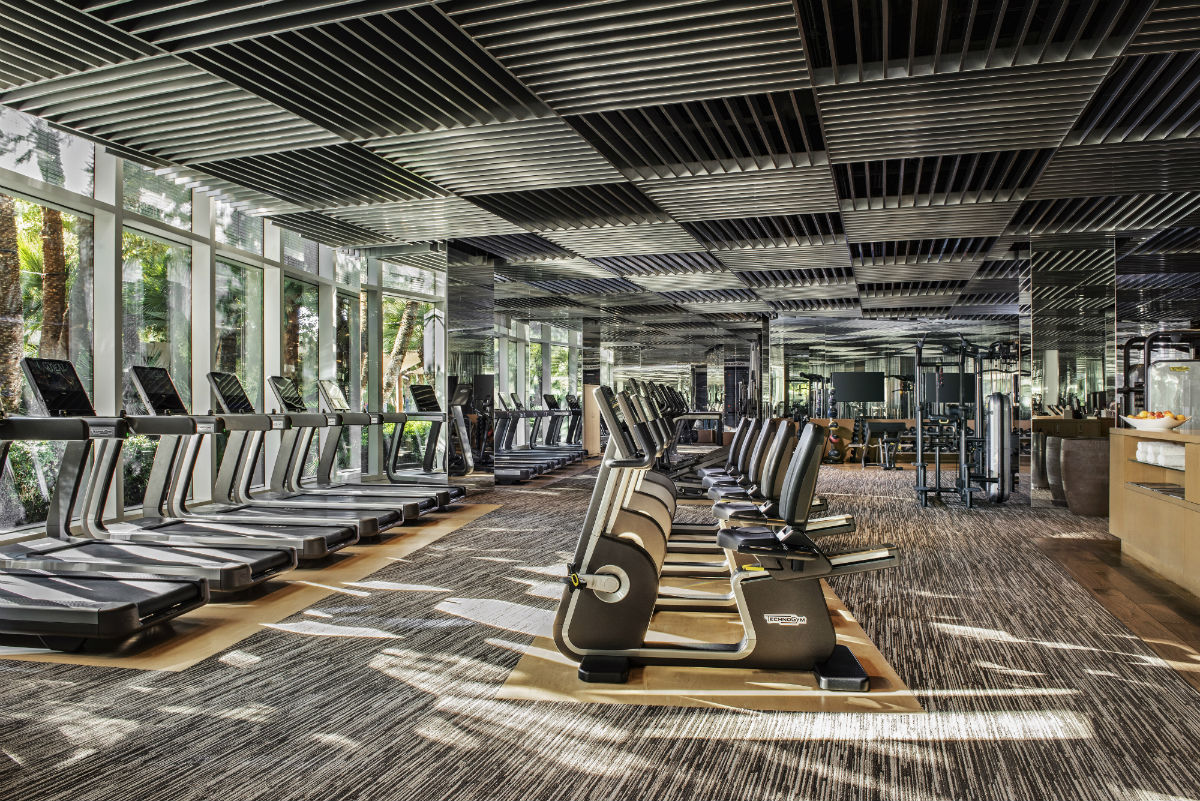 Technogym machines at the gym at Aria