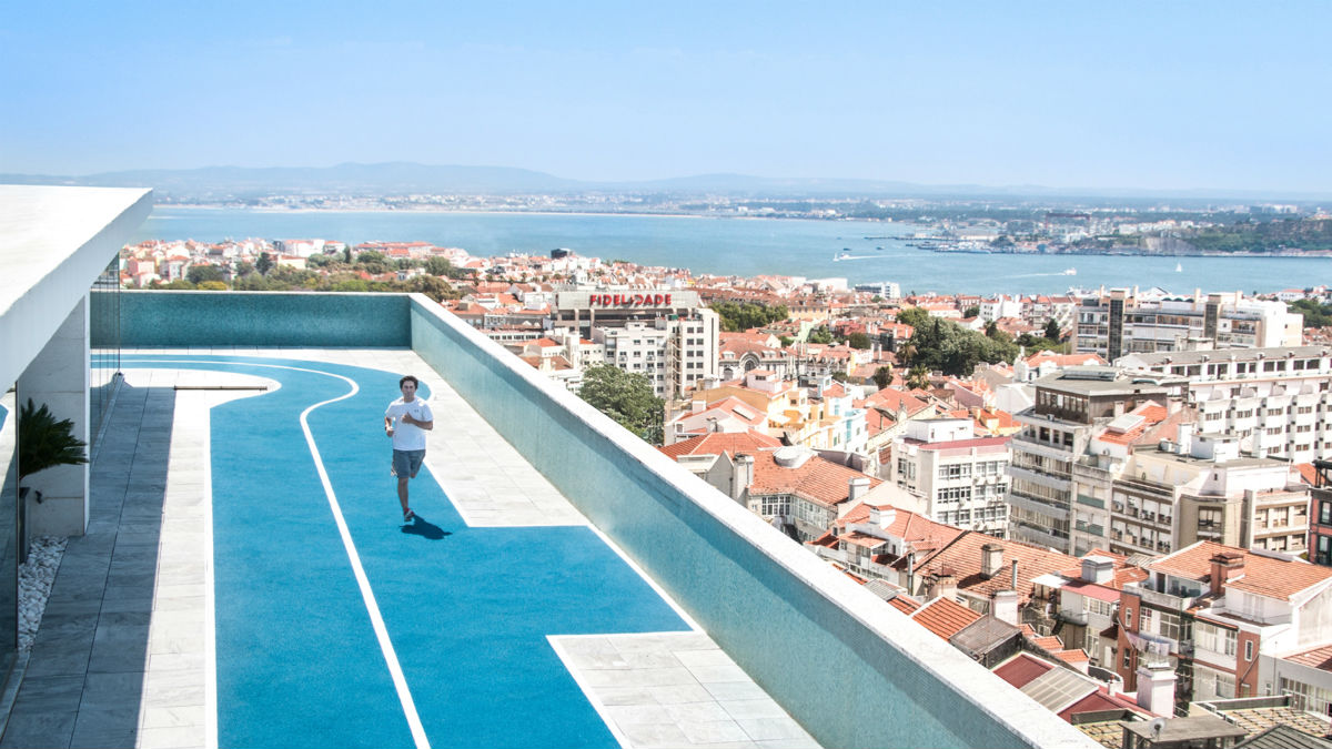 The running-track atop the Four Seasons, Lisbon