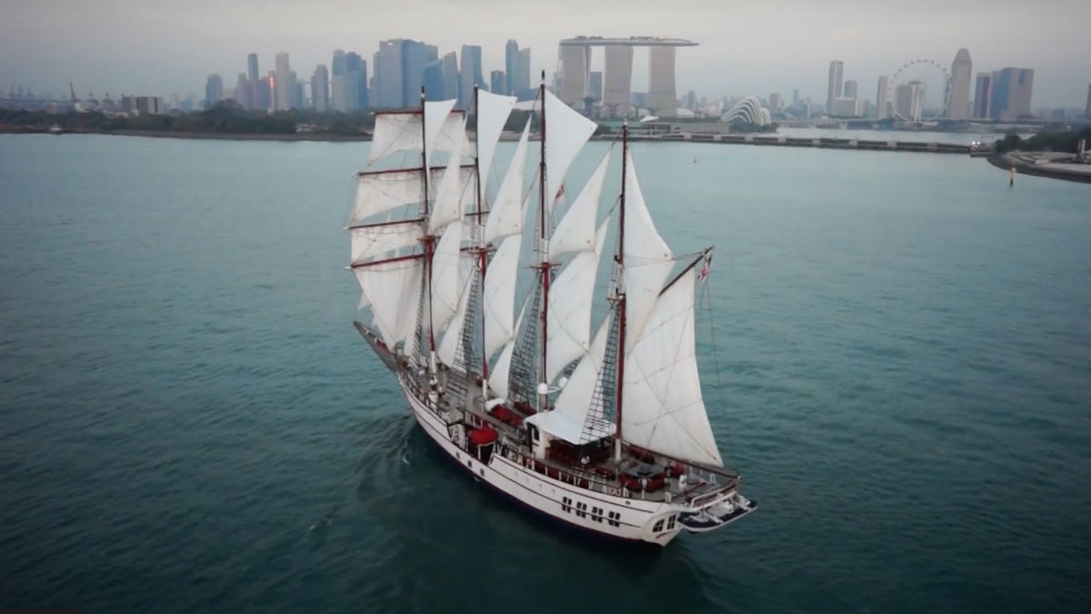 Royal Yacht Albatross in Singapore