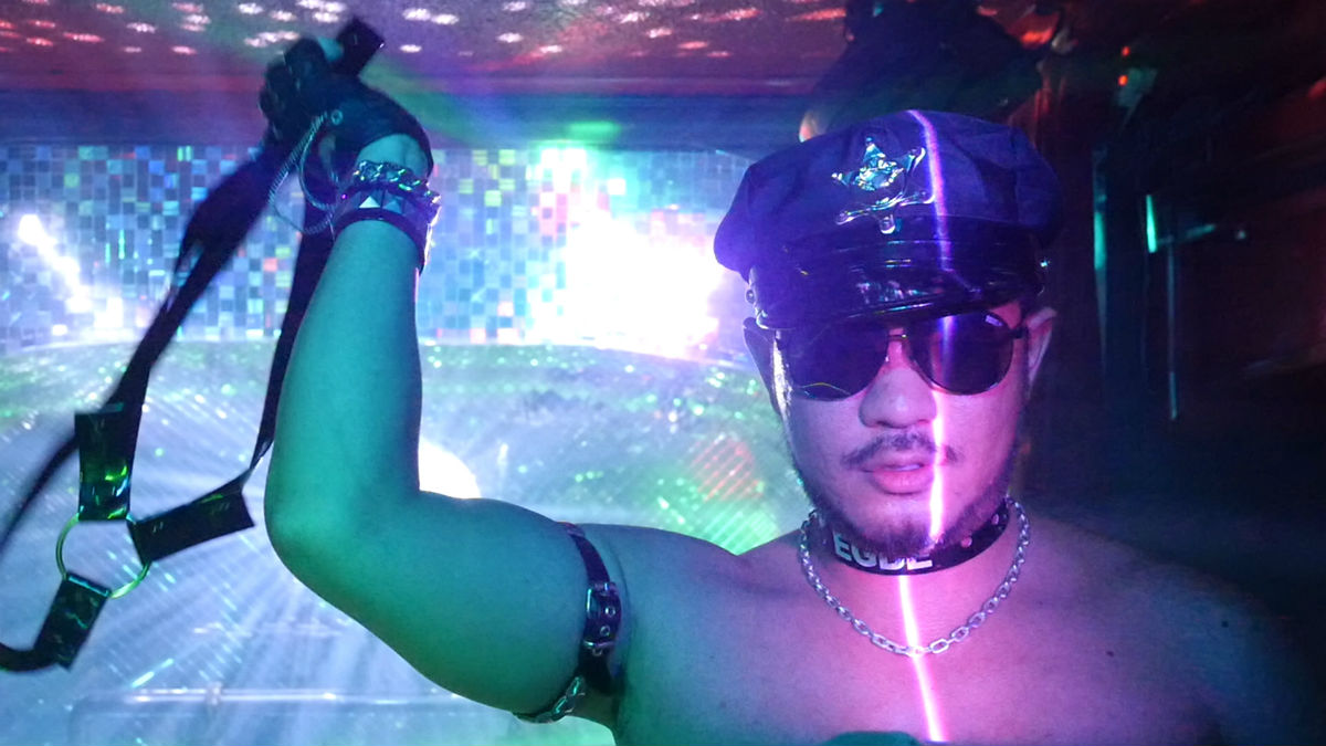 A dancer at Club Explosion, Osaka, featured in Queer Japan