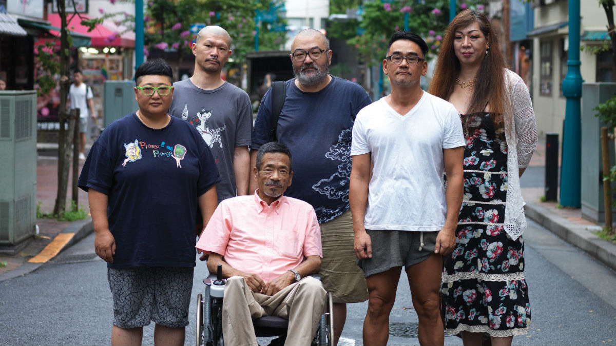 Nogi Sumiko, Atsushi Matsuda, Hiroshi Hasegawa, Gengoroh Tagame, Akira the Hustler, and Tomato Hatakeno