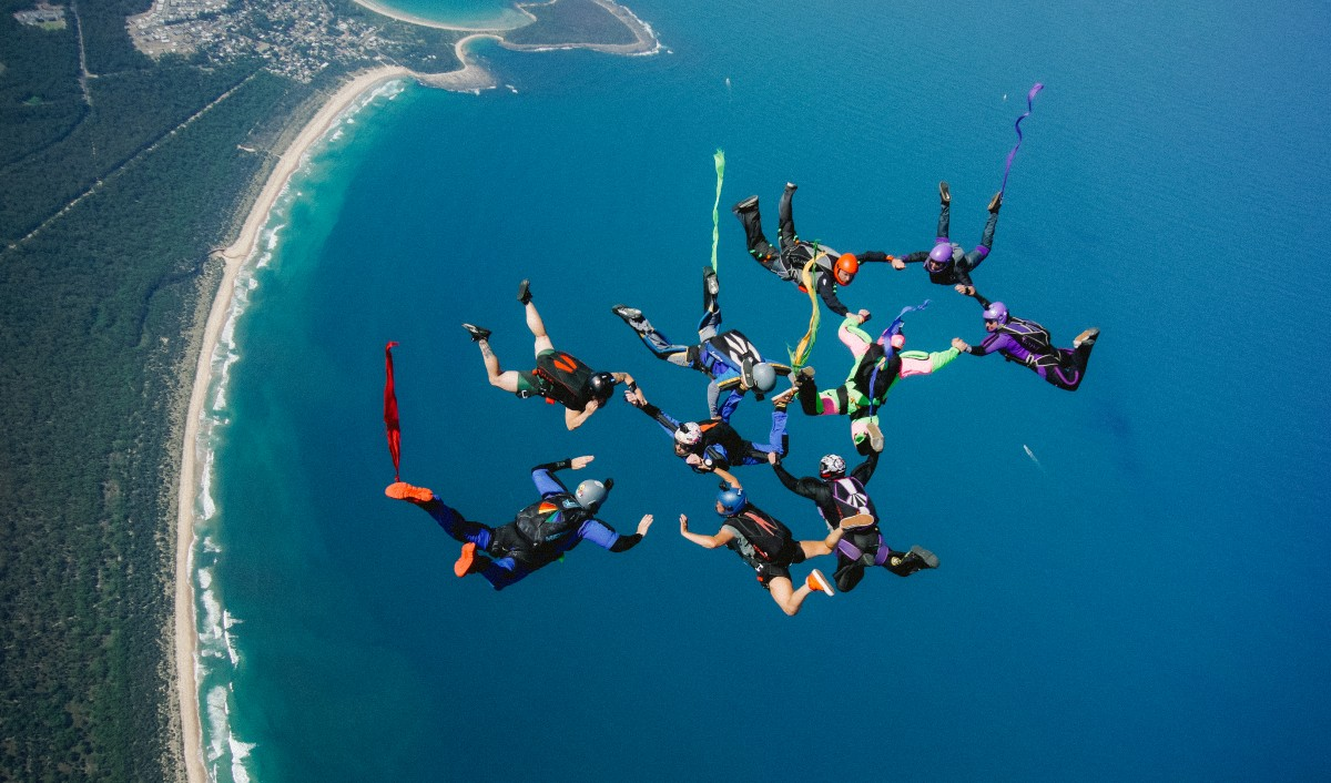 Pride Boogie over Moruya, New South Wales