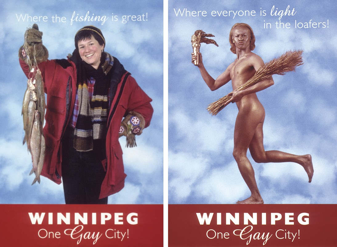 Two of the Winnipeg campaign posters by Shawna Dempsey & Lorri Millan