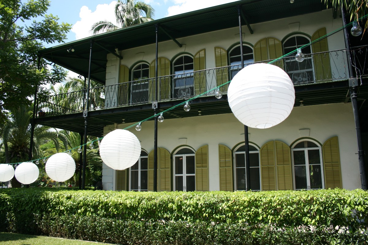 Ernest Hemingway's former home in Key West - now a museum
