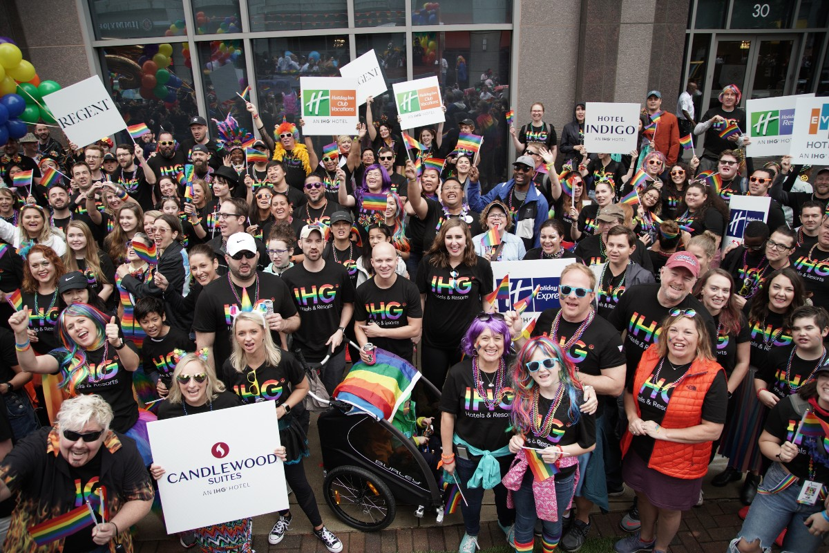 IHG Hotels & Resorts colleagues celebrating Pride in 2019