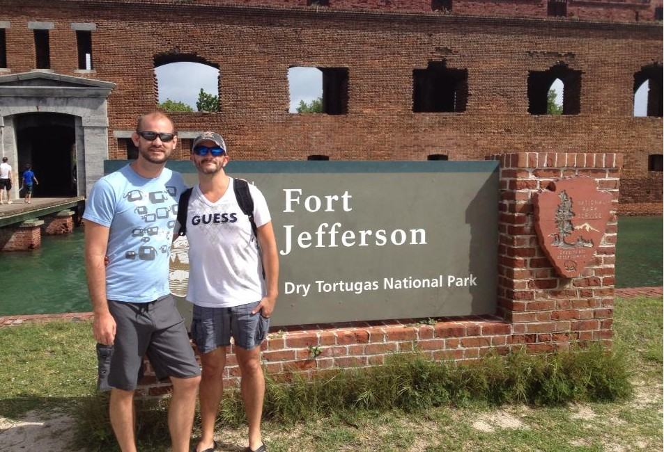 Jeffrey Smead (left) and husband James Braun at Fort Jefferson