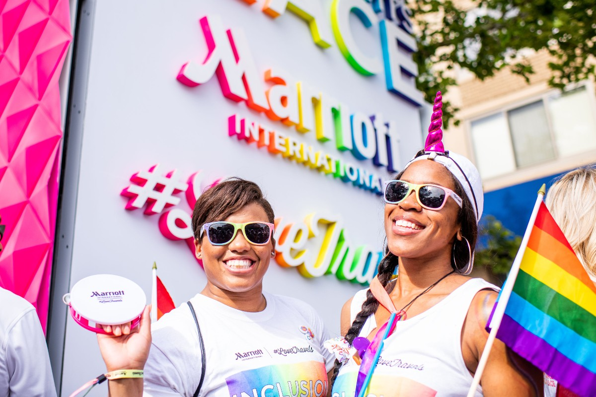 Marriott employees at Capital Pride in Washington DC in 2018