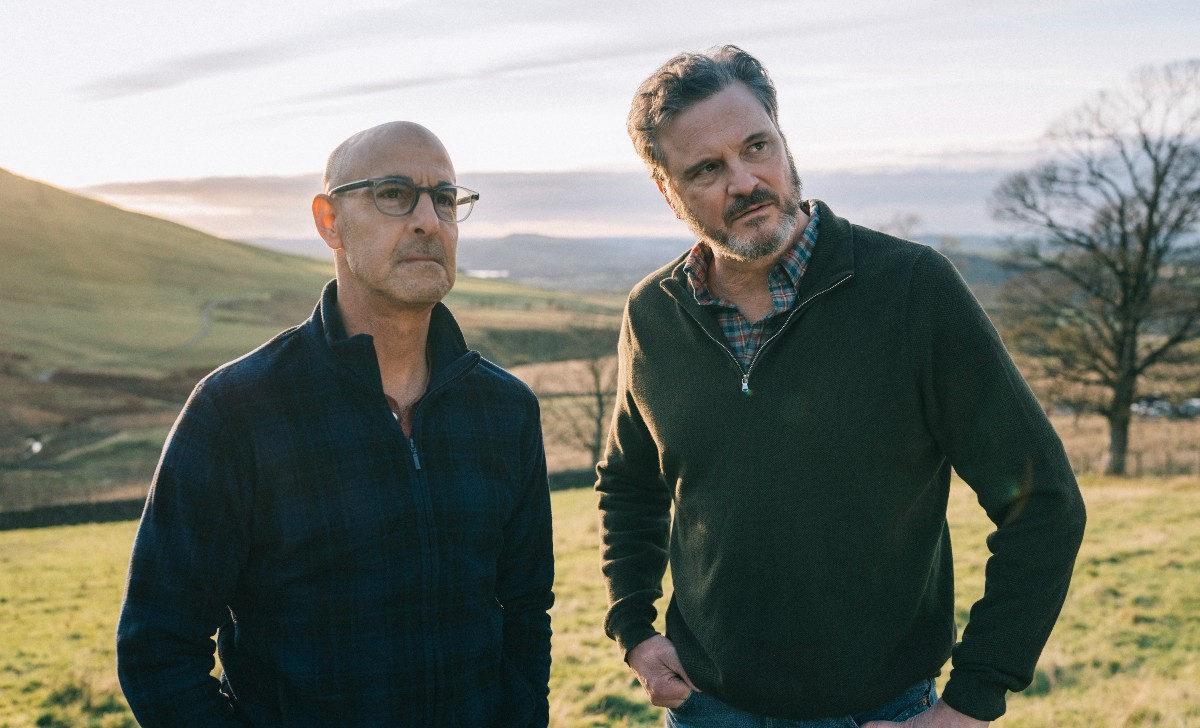Stanley Tucci and Colin Firth in Supernova, shot in the Lake District