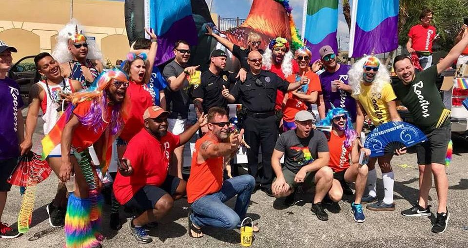 The HG Roosters marchers at West Palm Beach Pride, 2018