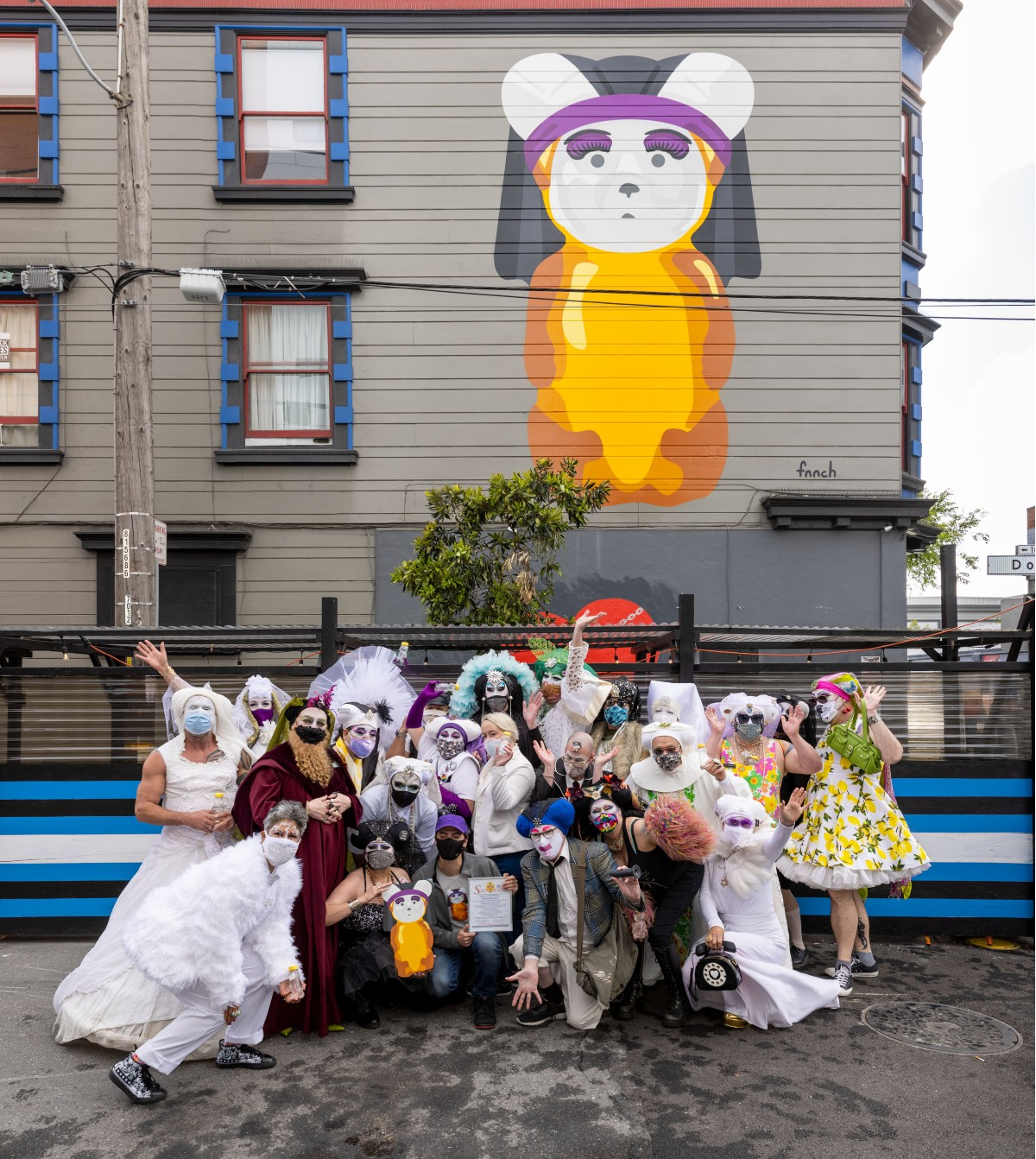 The blessing of the new fnnch artwork honoring the Sisters of Perpetual Indulgence