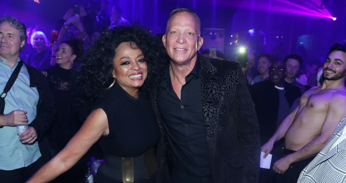 Diana Ross with David Coole at The Abbey Food and Bar in 2018