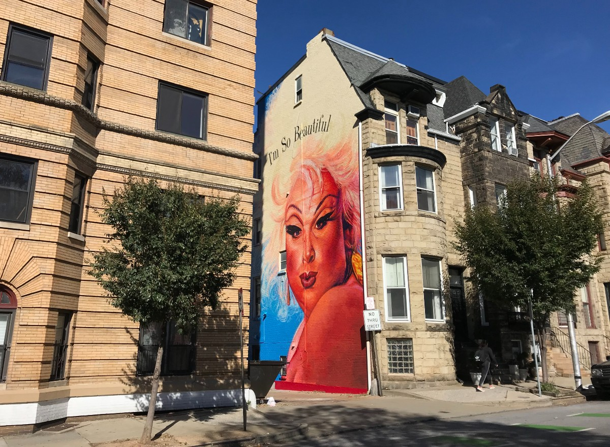 The Divine mural by street artist, Gaia, in Baltimore