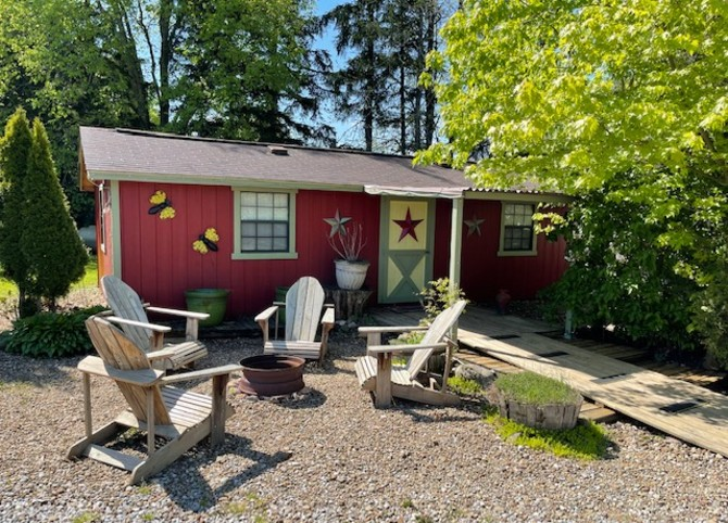 A bunkhouse at gay campground Freedom Valley