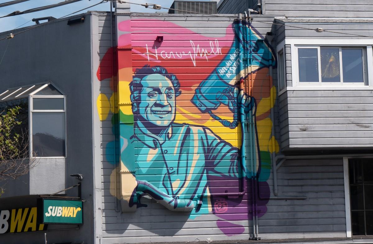 Harvey Milk mural