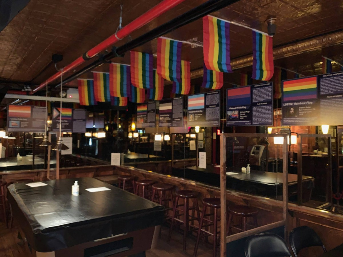 The pride flag exhibition at New York's Stonewall Inn
