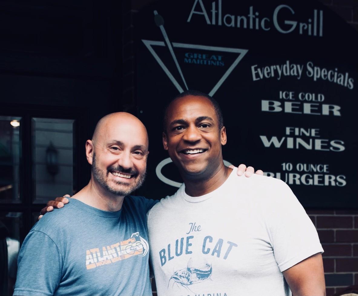 Sean Bishop and husband Reggie Stotts own the Atlantic Grill in Atlanta
