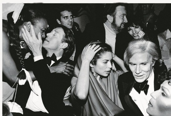 Celebrities during New Year's Eve party at Studio 54: