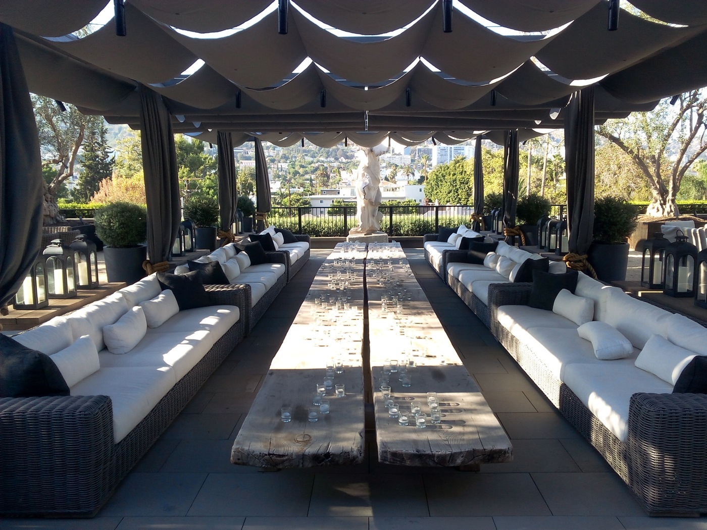 the sexiest weho lounge may actually be restoration. Black Bedroom Furniture Sets. Home Design Ideas