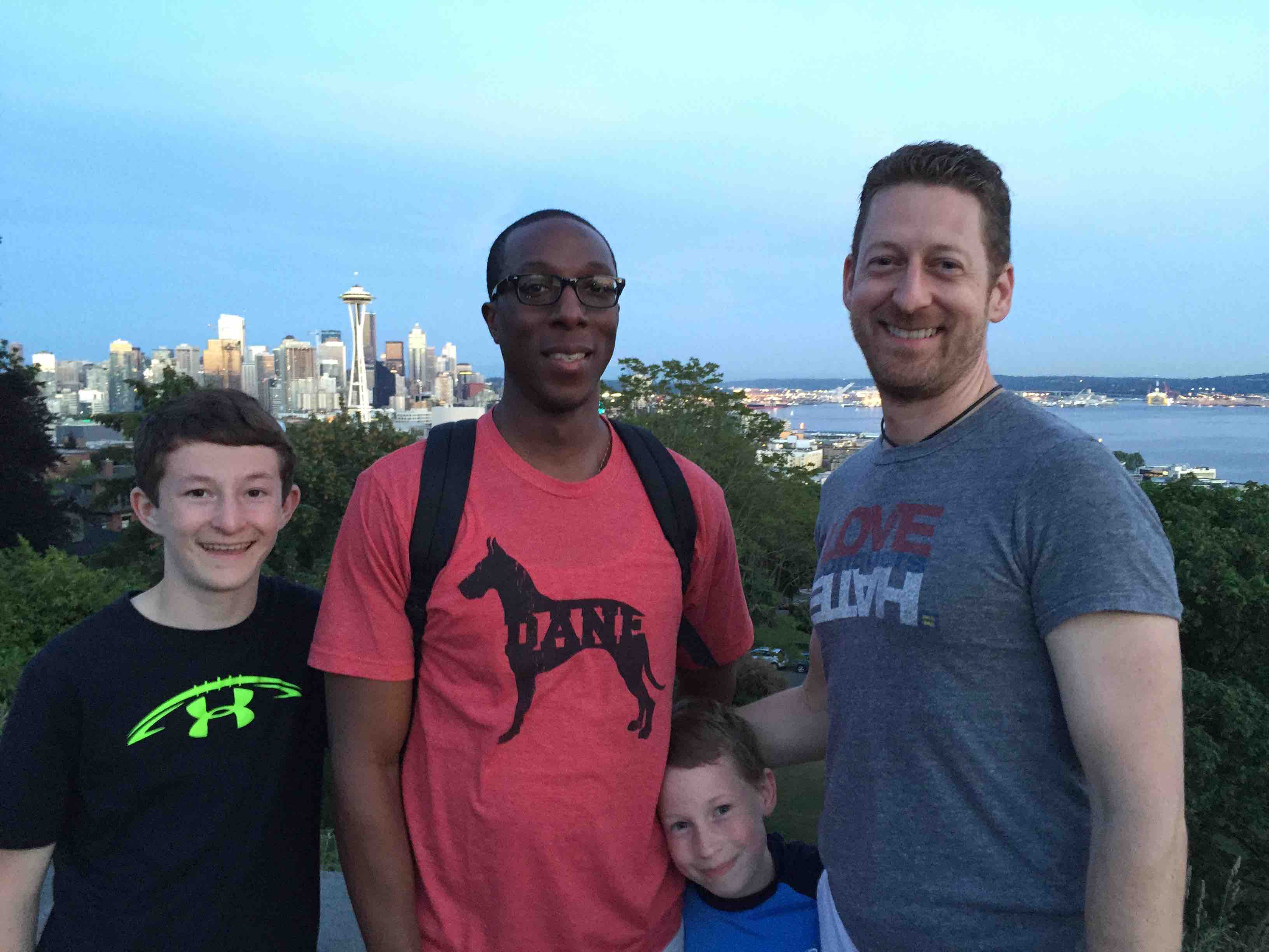 Paul J. Heney and family in Seattle for ManAboutWorld gay travel magazine and GayCities